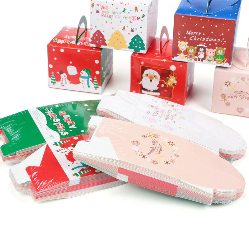 White Cardboard Fancy Christmas Packaging Boxes For Apple And Socks