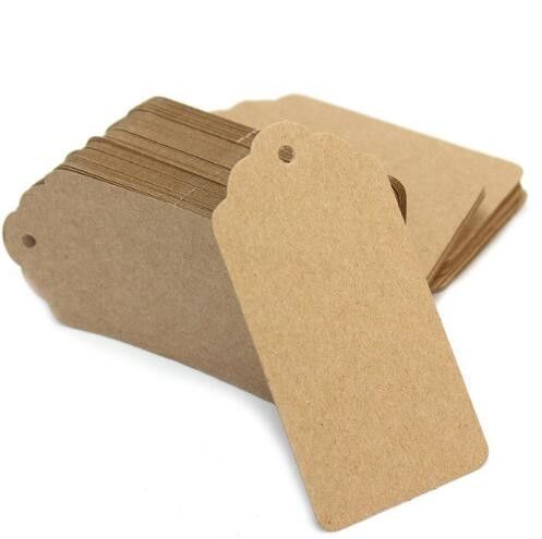 Professional Custom Clothing Labels Brown Kraft Paper Clothing Hang Tags