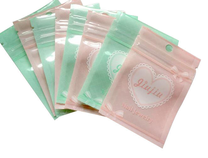 Custom Colorful Ziplock PE Plastic Pouch Packaging Clear Offset Printing