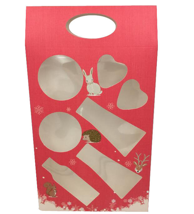 Clear PVC Window Christmas Special Packing Boxes , Christmas Paper Box