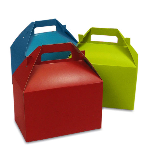 Red Cake Take Away Paper Packaging Box Customized Design Logo Printing